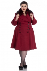 PRE ORDER: Milan Coat - Burgundy and Red