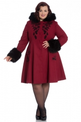 PRE ORDER: Sherwood Coat - Burgundy and Black