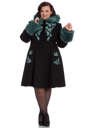 PRE ORDER: Sherwood Coat - Black and Teal