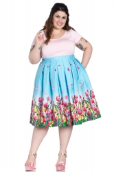 PRE ORDER: Angelique 50's Skirt - Blue