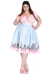 PRE ORDER: Paname 50's Skirt - Blue