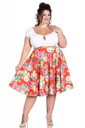 PRE ORDER: Marguerita 50's Skirt - Orange