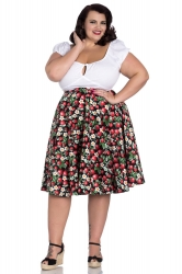 PRE ORDER: Strawberry Sundae 50's Skirt - Black