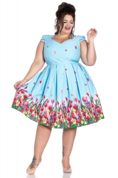 PRE ORDER: Angelique 50's Dress - Blue