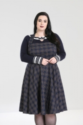 PRE ORDER: Peebles Pinafore Dress - Navy