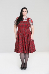 PRE ORDER: Irvine Pinafore Dress - Red