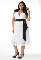 PRE ORDER: Berenice Lace Dress - White