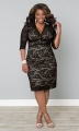 PRE ORDER: Scalloped Boudoir Lace Dress - Black & Nude