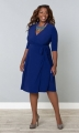 PRE ORDER: Essential Wrap Dress - Cobalt Blue