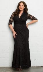 PRE ORDER: Screen Siren Lace Gown - Onyx