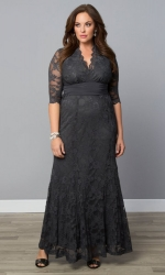 PRE ORDER: Screen Siren Lace Gown - Twilight Grey