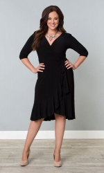 PRE ORDER: Whimsy Wrap Dress - Black Noir
