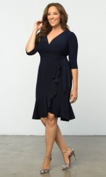 PRE ORDER: Whimsy Wrap Dress - Navy Blue