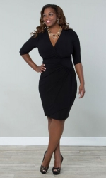 PRE ORDER: Ciara Cinch Dress - Black Noir