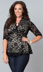 PRE ORDER: Linden Lace Top - Black Lace & Nude Lining