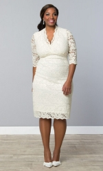 PRE ORDER: Luxe Lace Wedding Dress - Ivory