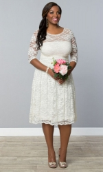 PRE ORDER: Aurora Lace Wedding Dress - Ivory