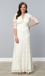 PRE ORDER: Amour Lace Wedding Gown - Ivory