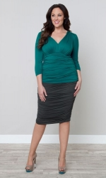 PRE ORDER: Riley Ruched Skirt - Twilight Grey