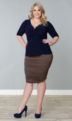PRE ORDER: Riley Ruched Skirt - Antique Taupe