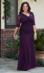 PRE ORDER: Soiree Evening Gown - Imperial Plum