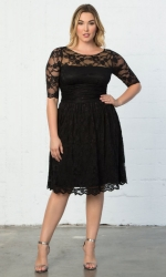 PRE ORDER: Luna Lace Dress - Onyx