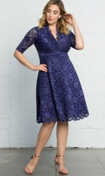 PRE ORDER: Mademoiselle Lace Dress - Sapphire Blue