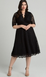 PRE ORDER: Mademoiselle Lace Dress - Onyx