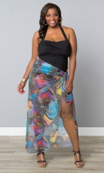 PRE ORDER: Catalina Wrap Cover Up - Spotted Butterfly Print