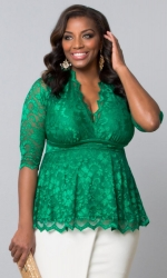 PRE ORDER: Linden Lace Top - Emerald