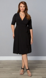 PRE ORDER: Essential Wrap Dress - Black Noir