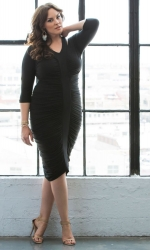PRE ORDER: Riveting Ruched Dress - Black Noir
