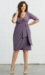 PRE ORDER: Harlow Faux Wrap Dress - Lavender Fields
