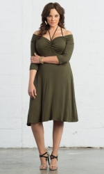 PRE ORDER: Enticing Tie Dress - Olive You