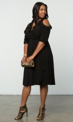 PRE ORDER: Barcelona Wrap Dress - Black Noir