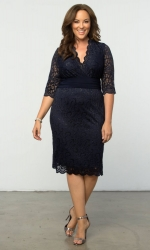 PRE ORDER: Lumiere Lace Dress - Moonlit Navy