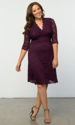 PRE ORDER: Scalloped Boudoir Lace Dress - Plum & Plum