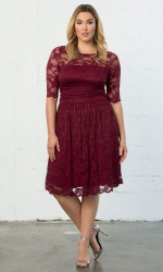 PRE ORDER: Luna Lace Dress - Rose Wine