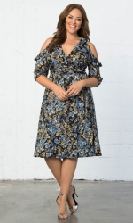 PRE ORDER: Barcelona Wrap Dress - Floral Meadow