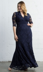 PRE ORDER: Screen Siren Lace Gown - Nocturnal Navy