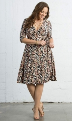 PRE ORDER: Essential Wrap Dress - Pink Safari Print