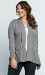 PRE ORDER: Adriana Cardigan - Heather Grey