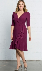 PRE ORDER: Whimsy Wrap Dress - Magenta
