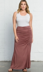 PRE ORDER: Mermaid Maxi Skirt - Peach Mimosa