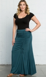 PRE ORDER: Mermaid Maxi Skirt - Antigua Teal