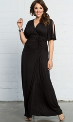 PRE ORDER: Bella Braided Maxi Dress - Black Noir