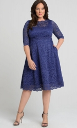 PRE ORDER: Lacey Cocktail Dress - Bluebird