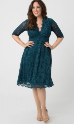 PRE ORDER: Mademoiselle Lace Dress - Teal Abyss