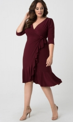 PRE ORDER: Whimsy Wrap Dress - Pinot Noir