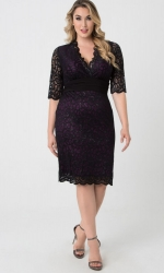 PRE ORDER: Lumiere Lace Dress - Plum Perfection